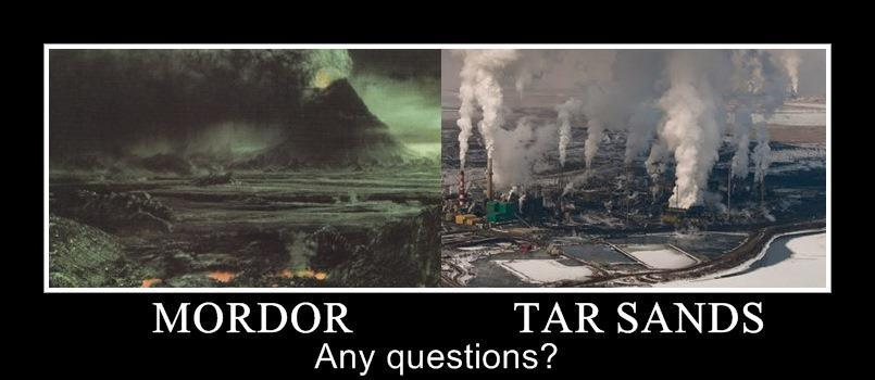 Mordor vs. Tar Sands ...